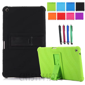 AORUIIKA Thickening Non-slip Shockproof Back cover Case for Huawei MediaPad T3 8.0 KOB-L09 KOB-W09 child Silicone case t3 8.0""
