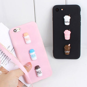 Cute Candy Coffee Case for Sony Xperia XA1 Ultra Cases 3D Milk Phone Cover for Sony L1 L2 L3 X XA XA2 Compact XZ XZ1 XZ2 E5 Plus