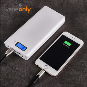 Vapeonly 18650 Portable Battery Power Bank Shell Case LCD Display Dual USB Powerbank Box 5V 2A Phone Charger for iPhone Samsung