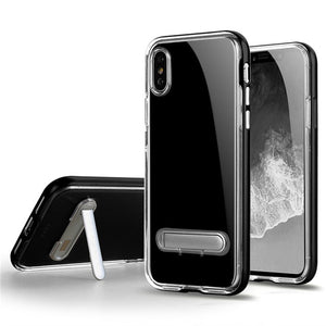 SGP Spigen Crystal Hybrid Clear Soft Tpu Cell Phone Cases with PC kickstand for iPhone X XS Max XR  8 7 6 6S plus