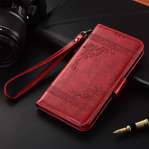 Flip Leather Case For Nokia 1 2 3 5 6 7 8 X6 6.1 3.1Fundas Printed Flower 100% Special wallet stand case with Strap  TPU case