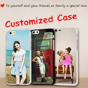 Custom Design Phone Case Printed Coque for iphone 4 5 6 7 8 X S Plus DIY Photo Soft Silicon Transparent tpu for Samsung