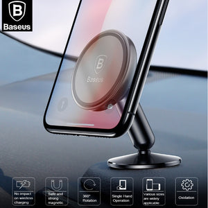 BASEUS Brand Aluminum Alloy Magnetic Car Phone Holder Stand For iPhone X Galaxy Note 9 S9 Universal Mobile Phone Car Mount Stand