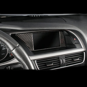 Carbon Fiber Car Inner Console GPS Navigation NBT Screen Frame Cover Trim Accessories For Audi A4 B8 A5 09-16 Car styling