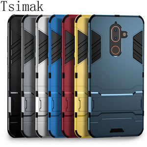 Tsimak Case For Nokia 1 2 3 6 8 6.1 X5 X6 X7 7 Plus 2.1 5.1 7.1 8.1 2018 Cover Silicone Rubber Armor Hard Phone Back Coque