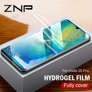 ZNP 9D Full Cover Soft Hydrogel Film For Huawei Mate 20 Lite 10 Pro Screen Protector Film For Huawei Mate 20 Pro Film Not Glass