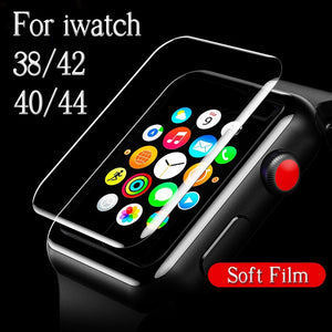 Protective Film For i Watch 1 2 3 4 38mm 42mm 40mm 44mm 38 40 42 44 Screen Protector On The Original Soft Full Cover (Not Glass)