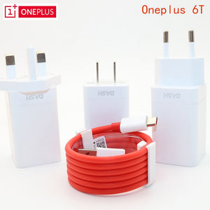 Original EU US UK ONEPLUS 6T Dash charger One plus 6 Smartphone 5V/4A Fast charge USB wall power Adapter,2M Dash Charger Cable