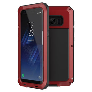 Heavy Duty Protection armor Metal Aluminum phone Case For Samsung Galaxy S9 S8 Plus S4 S5 S6 S7 edge Note 8 5 4 Shockproof Cover