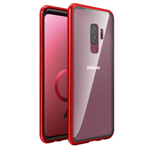 LUPHIE for Samsung Galaxy S9 S8 Plus S7 Edge Note 8 Note 9 Case Original Brand-New Magnetic Aluminum Metal Frame Tempered Glass