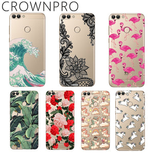 CROWNPRO Huawei P Smart Case Soft TPU Silicone FOR Funda Huawei P Smart Cover Phone Coque Case Huawei P Smart 2018 Capa Enjoy 7S