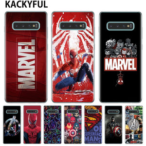Marvel Avengers Heros Comics Collage Phone Case For Samsung Galaxy S10 Lite S10E S10 Plus  M10 M20 Cover Soft TPU Silicone Cover
