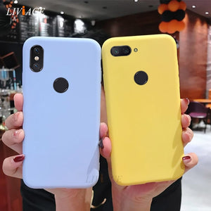 silicone case on for xiaomi redmi note 6 pro 7 5 5a prime s2 mi 8 9 se mi8 a2 lite cute yellow candy color soft tpu back cover