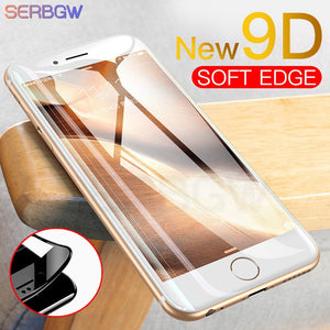 New 9D Curved Full Cover Tempered Glass on the For iPhone X XR XS Max Screen Protector For iPhone 8 7 6 6s Plus Protection Film