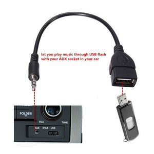 2018 Dropshipping USB female to 3.5MM U disk connection car CD machine aux car audio cable  Car Electronics Cables