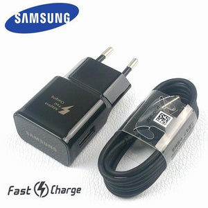 original EU Samsung Galaxy Wall Charger For s9 S8 plus Note 8 9 9v/1.67A Adaptive Fast Charging Travel Adapter &Usb Type C Cable