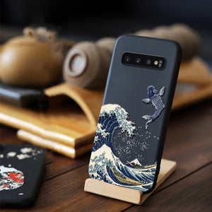 for Samsung Galaxy S10 Plus S10e e Case 3D Relief Matte Soft Back Cover LICOERS Official Case for Galaxy S10+ S10 Funda Caphina