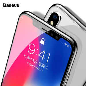 Baseus 0.3mm Screen Protector Tempered Glass For iPhone Xs Max X Xr S 3D Full Cover Protective Glass For iPhone Xsmax Protection