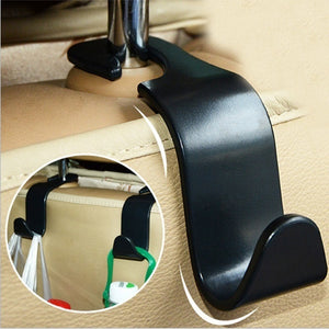 Car Organizer Storage Holder Car Seat Back Hook for Bags Vehicle Hidden Headrest Hanger Clips for Shopping Bag Car Accessories