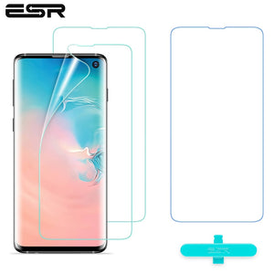 2pcs/lot ESR Screen Protector for Samsung Galaxy S10 Full Coverage Soft TPU Crystal Clear Skin Film for Samsung Galaxy S10 Plus
