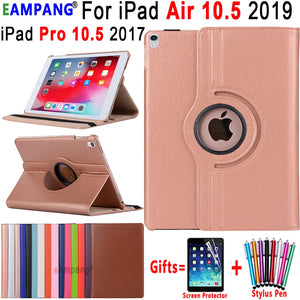 360 Degree Rotating Leather Cover Smart Sleep Awake Case for Apple iPad Air 3 10.5 2019 iPad Pro 10.5  2017 Coque Funda