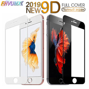 9D Curved Edge Full Cover Tempered Glass On The For iPhone 7 8 Plus Screen Protective Glass For iPhone 7 8 6 6S Plus Film Case