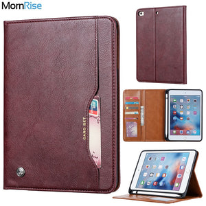 Luxury Vintage Suede Leather Smart Cover For Apple iPad mini 5 7.9 2019 Case Wallet Card Stand Magnetic Book Classic Flip Case