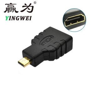 Micro-HDMI to HDMI Adapter Gold-Plated 1080P Micro HDMI  Male To Standard HDMI Female Extension Adapter