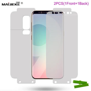 2PCS Hydrogel Front & Back film For Samsung Galaxy S10 Plus S10E S8 S9 plus Note 9 8 A8 A7 2018 TPU Full Cover Screen Protector
