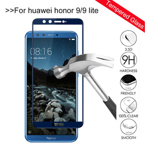 Tempered Glass on honor 9 lite screen protector For Huawei honor 9 lite 10 Light honor10 9lite honor9 Protective Glas Film Cover