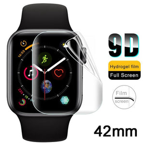 2Pcs Soft Hydrogel Full Screen Protector Film For Apple Watch 38mm 42mm 40mm 44mm Tempered Film For iwatch 4/3/2/1 Not Glass