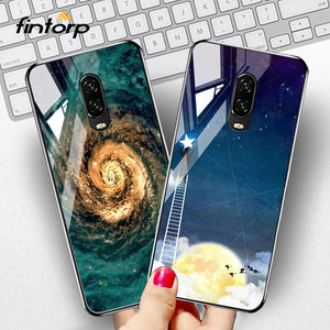 Fintorp Tempered Glass Case For Oneplus 6T 6 5T 5 Cases On For One plus 6T 6 5T 5 Cover Coque Funda Bumper Capa