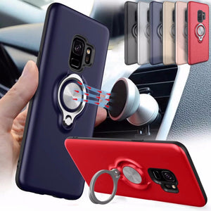 For Samsung Galaxy S9 PLUS case Car Holder Stand Magnet Suction Finger Ring Cover For S7 EDGE A8 2018 S8 S10 PLUS S10E NOTE 9 8