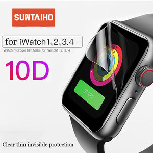 Suntaiho 10D Full Cover Protector film For Apple Watch Screen Protector 40 44mm for i Watch 4 film Series 1/2/3/4 not glass film