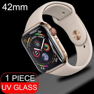 9D UV Glass Nano Liquid For Apple Watch 38mm 42mm 40mm 44mm Screen Protector For i Watch 4 3 2 1 Series full Glue Tempered Glass
