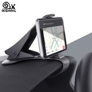 IKSNAIL Car Phone GPS Holder HUD GPS Phone Universal Cradle Crocodile Dashboard Mount Clip navigation Bracket for Safe Driving