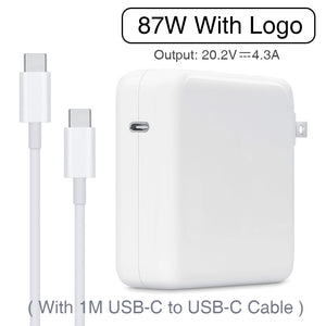 87W USB-C Power Adapter Type-C PD Charger With 1M USB-C Charging Cable For Latest Macbook pro 15-inch A1706 A1707 A1708 A1719