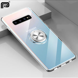 For Samsung Galaxy S10 5G S10 S9 S8 Plus Note 9 Note 8 A7 A9 2018 S10e M20 M30 Case Cover Soft Silicone Ring Holder Coques
