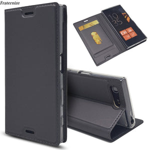 Leather Flip Wallet Case For Sony Xperia XZ3 XZ1 XZ2 Z5 Compact X XZ Premium  XA XA1 Plus XA2 Ultra L2 L1 Magnetic Stand Cover