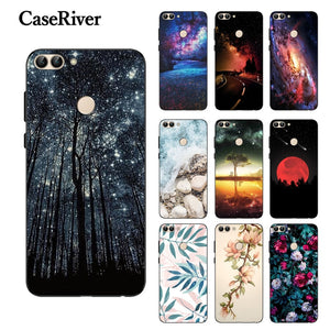 Huawei P Smart 2018 Case Cover Phone Back FOR Funda Huawei P Smart Case Silicone Black Matte Soft TPU Case Huawei P Smart Coque