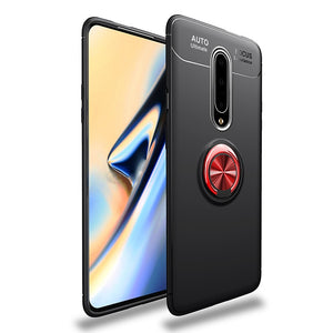 For Oneplus 7 Pro Case Oneplus7 5G Ring Holder Soft Matte Silicone Back Cover For One Plus 7 Pro Phone Case Housing