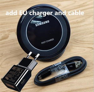 QI Samsung wireless charger fast charge pad stand S9 Quick chargers 9V 1.67A For Galaxy S7 S8 S9 Plus xiaomi MI9 P20 PRO