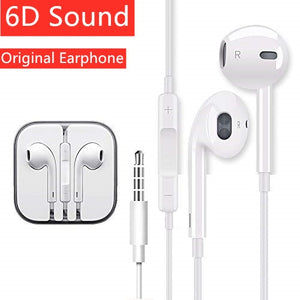 Original Earphones Wire Hybrid Stereo In-Ear earphone With Mic Wire Sound Control for iPhone 6 6S Plus 5S SE MP3 iPad Phone