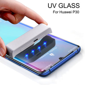Lamorniea For Huawei P30 Pro Screen Protector UV Glass For Huawei Mate 20 Pro Glass Film P20 Pro P20 Lite Mate 20 Lite Protector