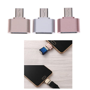 Micro USB OTG 2.0 Hug Converter Adapter for Android Phone Cable Card Reader Flash Drive OTG Cable Reader