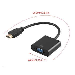 HDMI Male to VGA RGB Female HDMI to VGA Video Converter adapter HDMI Cable 1080P HDTV Monitor for PC