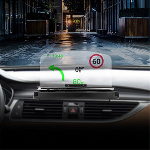 Mobile Phone Car Holder Windscreen Projector HUD Head Up Display Speedometer support smartphone voiture