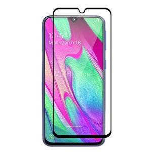 full cover for samsung a40 2019 screen protector tempered glas on for samsung galaxy a40 a 40 40a a405f 5.9 inch case film