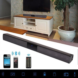 20W Wireless Bluetooth Soundbar Stereo Speakers Hifi Home Theater TV Sound Bar Surround Sound System AUX TF FM Radio Column