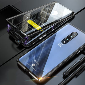Full Body Cover Case For Oneplus 7 Pro Magnetic Case For One Plus 7 Pro Case Front+Back double-sided 9H Tempered Glass Case
